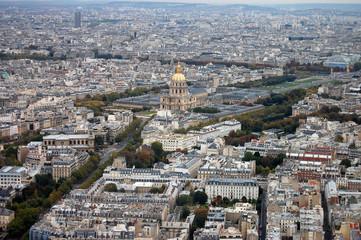 France, Paris: nice aerial city view of montparnasse