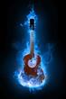 Quadro blue guitar