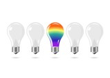 Rainbow light bulb