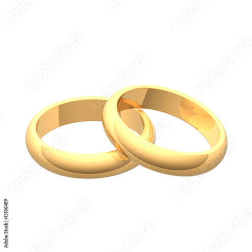 Two gold wedding rings.