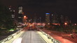 A city motorway in time lapse