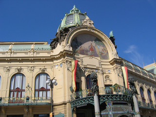 Top of the municipal house (build in 1911).