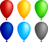 Realistic color balloons. Used mesh. poster