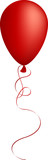 Realistic red balloon. Used mesh. poster