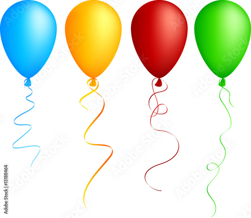 Realistic color balloons. Used mesh. - 13188464