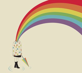 Girl and Rainbow