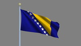 Flag of Bosnia and Herzegovina with alpha matte for isolation poster