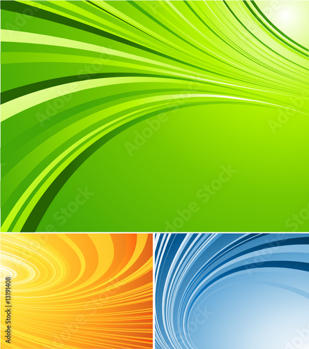 three vector striped  backgrounds. Elements for design