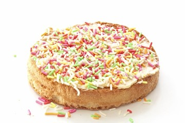 A Dutch delicacy: Colored sprinkles on a biscuit