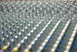Sound mixing console poster
