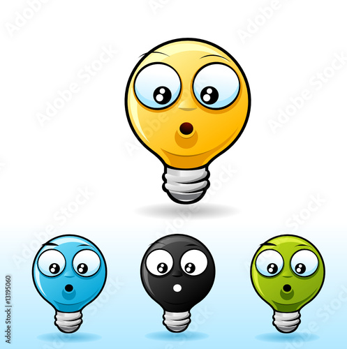 smiley face cartoon images. Lightbulb smiley face icon.