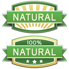 Natural product, food, or service vector packaging label