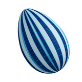 Blue linear abstract Easter egg poster