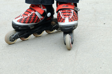 Rollerblading in the city
