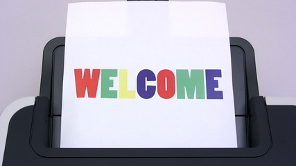 Printing A Colorful Welcome