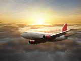 Fototapety Big aircraft at sunset