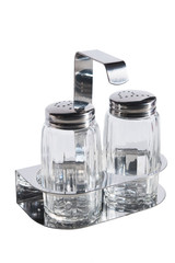 empty salt and pepper jar set