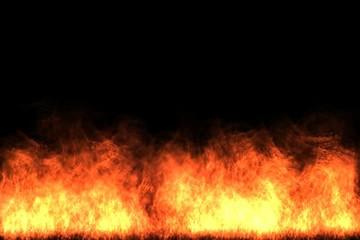 Fiery blaze on the bottom of screen - digital animation
