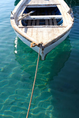 Small Anchored Fishing Boat