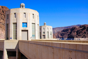 Hoover Dam Intake Towers, Lake Mead