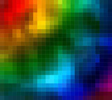 Multyicolor Blurry Pixels Abstract poster