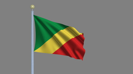 Flag of Congo with alpha matte for easy isolation