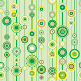 Springtime green rings seamless pattern