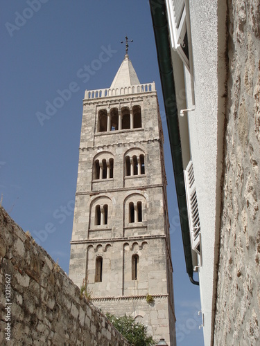 The bell tower of St Ann - Rab Croatia