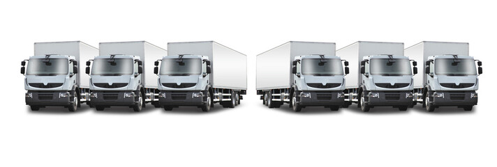 3+3 camions