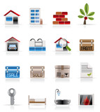 Fototapety Real Estate - Vector Icon Set