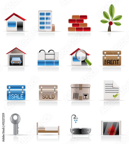 Real Estate - Vector Icon Set