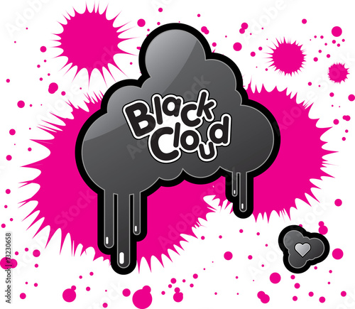 Vector illustration Black Cloud