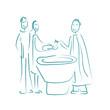 baptême garçon turquoise