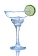 Margarita glass with ice