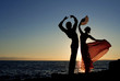 Leinwanddruck Bild - spanish dancers in spain
