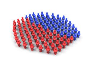 Majorité groupe 3d rouge