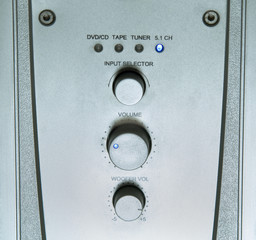 Stainless steel silver panel of amplifier receiver