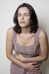 Stomach ache woman