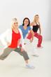 Women during exercising
