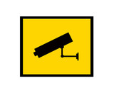 cctv camera sign poster