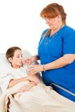 Nurse Administers Fluids poster