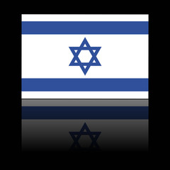 official flag of israel with shadow