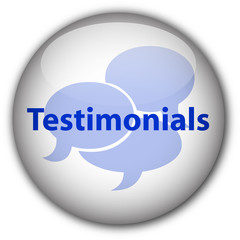 """Testimonials"" button (blue/white)"
