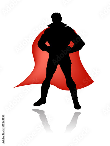 super hero silhouette vector