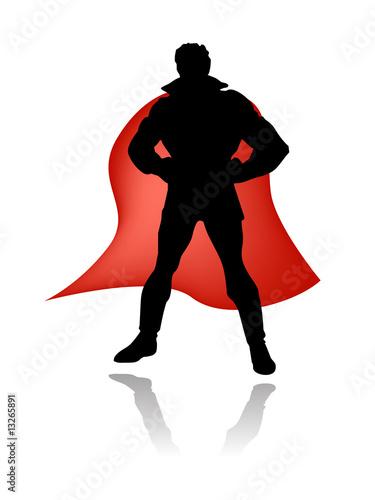 Deurstickers Superheroes super hero silhouette vector