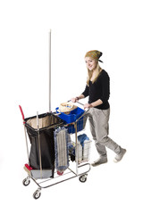 cleaner with cleaning cart