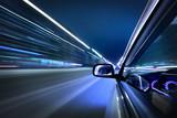 Fototapety night car drive