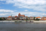Fototapety Panorama of Torun, Poland.
