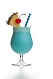 Fototapety Blue Hawaiian Colada - mit Ananas und Kirsche