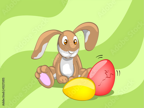 rabbit with eggs